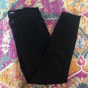 HUDSON Black Krista Crop Skinny Jeans Size 26